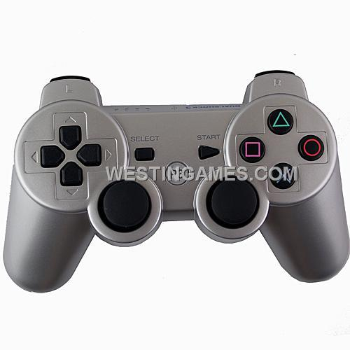 dualshock 3 wireless bluetooth sixaxis controller silver. Black Bedroom Furniture Sets. Home Design Ideas