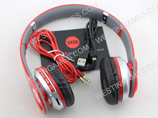 Monster Beats By Dr Dre Solo HD S450 Bluetooth Stereo Dynamic Wireless Headphones Headset