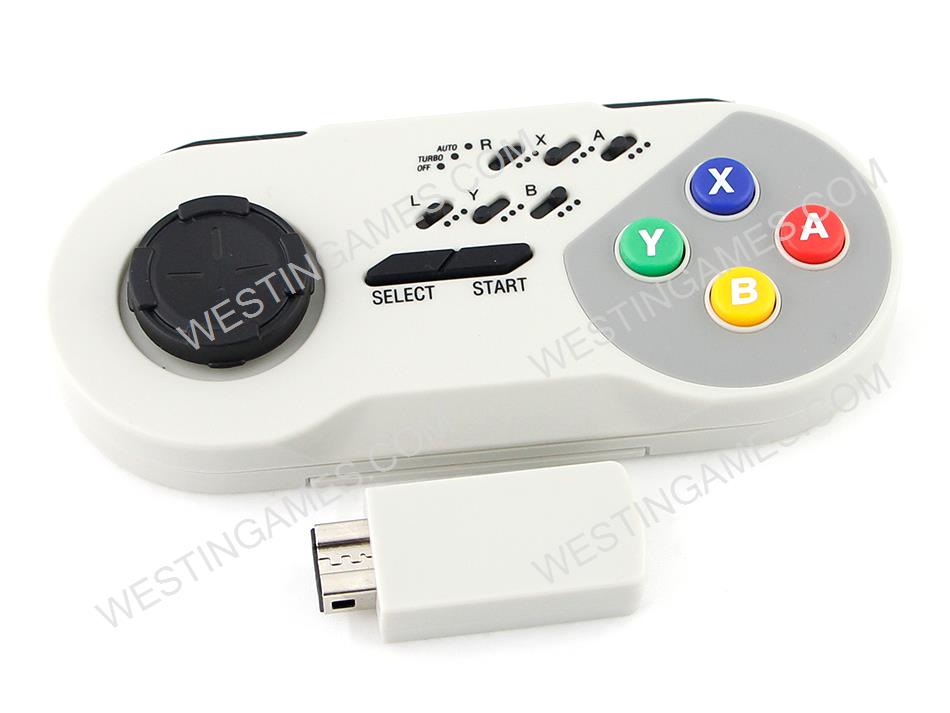 2 4G Wireless Controller Turbo Gamapad for SNES Classic Mini Edition